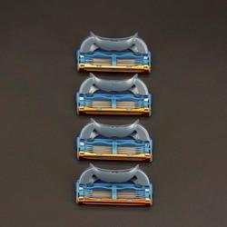 Высокое качество 4 шт./упак. 5 + 1 слоя Для мужчин для бритья Razor Blades, совместимый для Gillettee Fusione кассеты для бритья