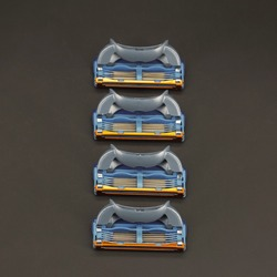Высококачественные мужские бритвенные лезвия 5 + 1 слоев, совместимы с бритвенными лезвиями Gillettee Fusione