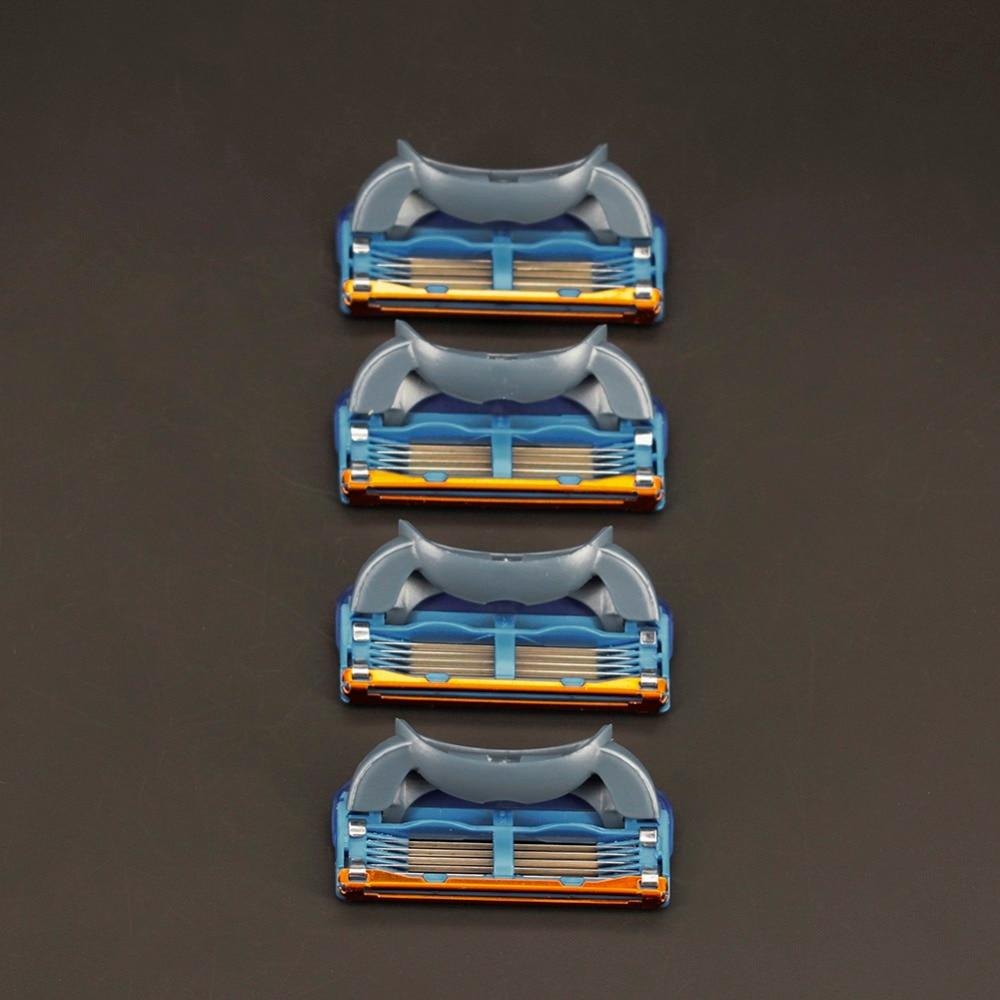 Высокое качество 4 шт./упак. 5 + 1 слоя Для мужчин Народной бритья лезвия совместимый для Gillettee Fusione Кассеты для бритья