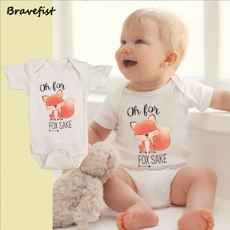 Baby Girls Childrens Oh for Fox Sake Printed Long Sleeve 100/% Cotton Infants Tops