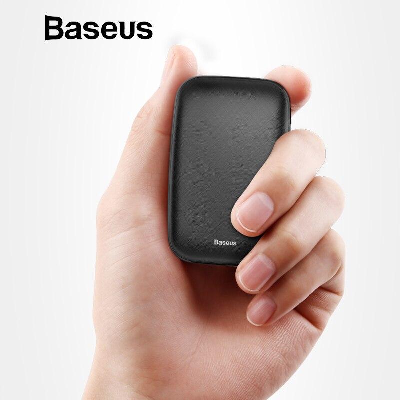 Baseus Mini 10000 mAh Power Bank Für iPhone X Xs Max X 8 Tragbare Externe Batterie Pack Power Für Samsung s9 S8 Note9 Xiaomi