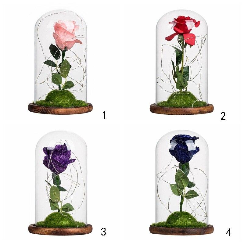 Künstliche Dekorationen 48 Cm Länge 11 Stücke Rot Lila Künstliche Rose Blume Hochzeit Dekoration Valentinstag Geschenk Chencheng