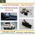 """Car Reverse Backup Rear Camera + 4.3"""" TFT LCD Screen Monitor = 2 in 1 Rearview Parking System / For Audi Q3 A5 Q5 S5 2013 2014"""