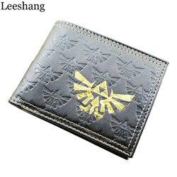 Leeshang nintendo legend zelda logo game wallet all over emboss with gold foil bi fold wallet.jpg 250x250