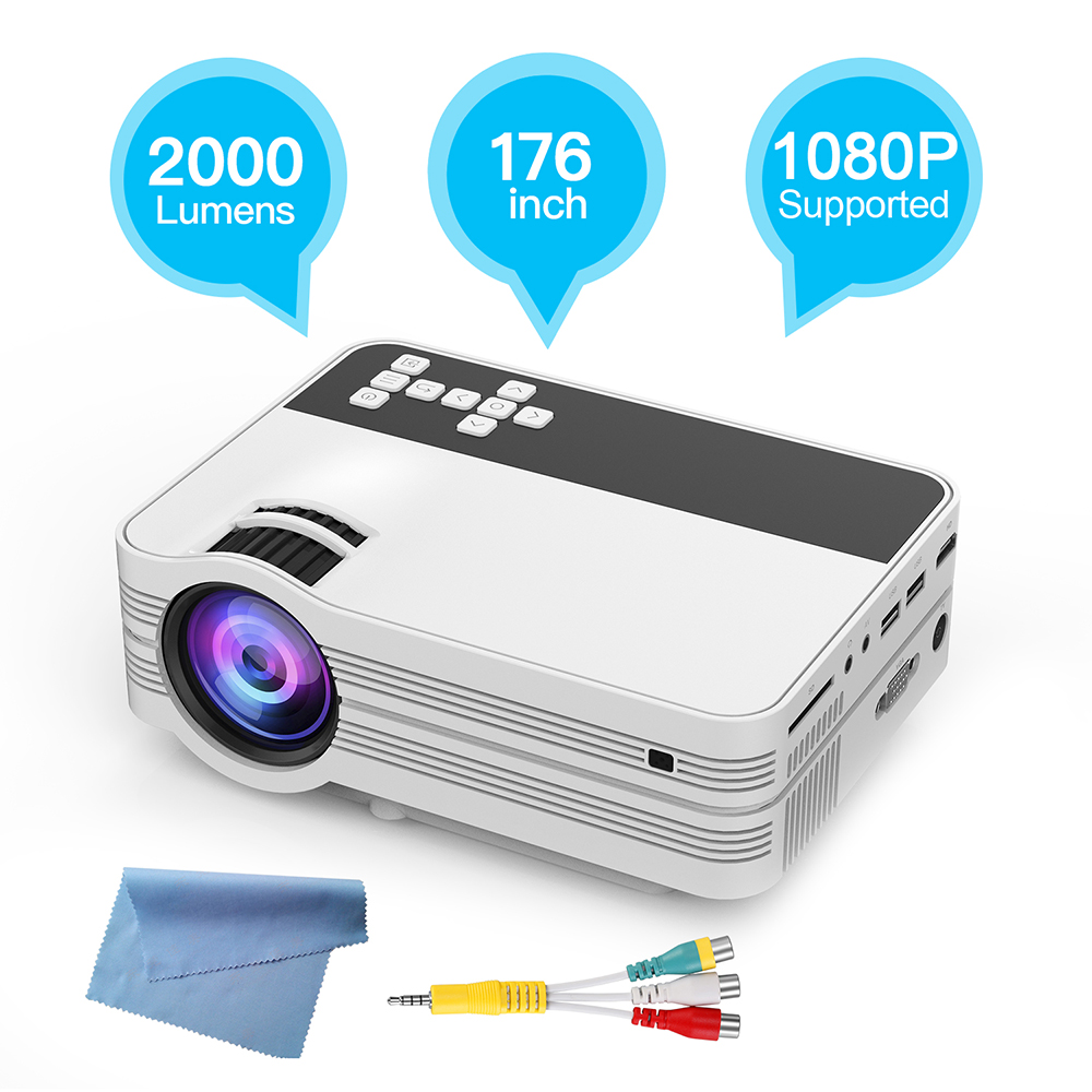 Vivicine V7 Portable LED Home Theater HD Mini Projector .HDMI USB PC LED TV Handheld Movie Game Proyector Beamer estgosz 2300 lumen 2018 u45 led projector uhappy best portable hd usb hdmi tv projector lcd mini proyector 3d home theaterbeamer