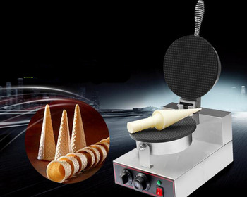 Home Use Electric Ice Cream Cone Maker Machine pie maker donut wizard waffle maker stainless steel electric waffle maker commercial single head ice cream cone baker machine waffle cone egg roll making machine