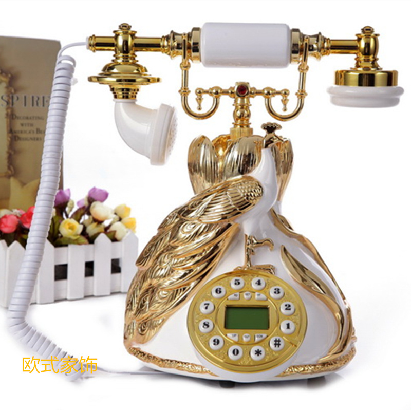 New style antique telephone European pastoral telephone set fashion retro telephone corded phone ringing tones