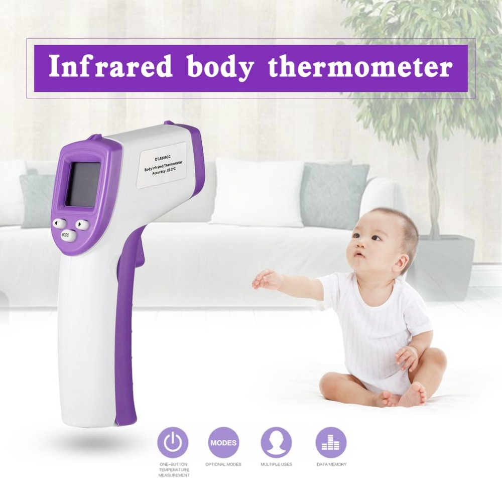 Handheld Digital infrared Thermometer Non Contact laser Temperature Gun LCD Display for Body and Object Temperature