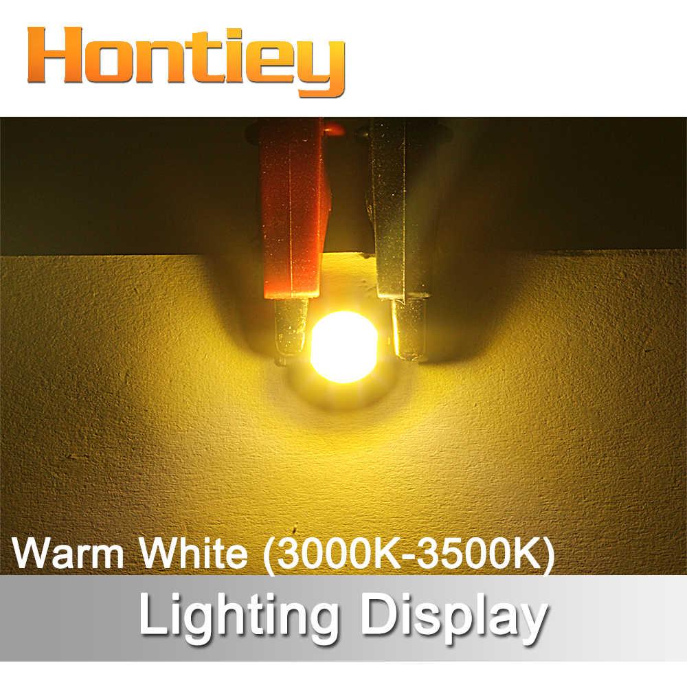 Hontiey COB lampe à LED 1 w puce blanc chaud rouge LED éclairage Diode ampoule bricolage lumière d'inondation puce 3.2 v 3.4 v perles projecteur lampe de poche