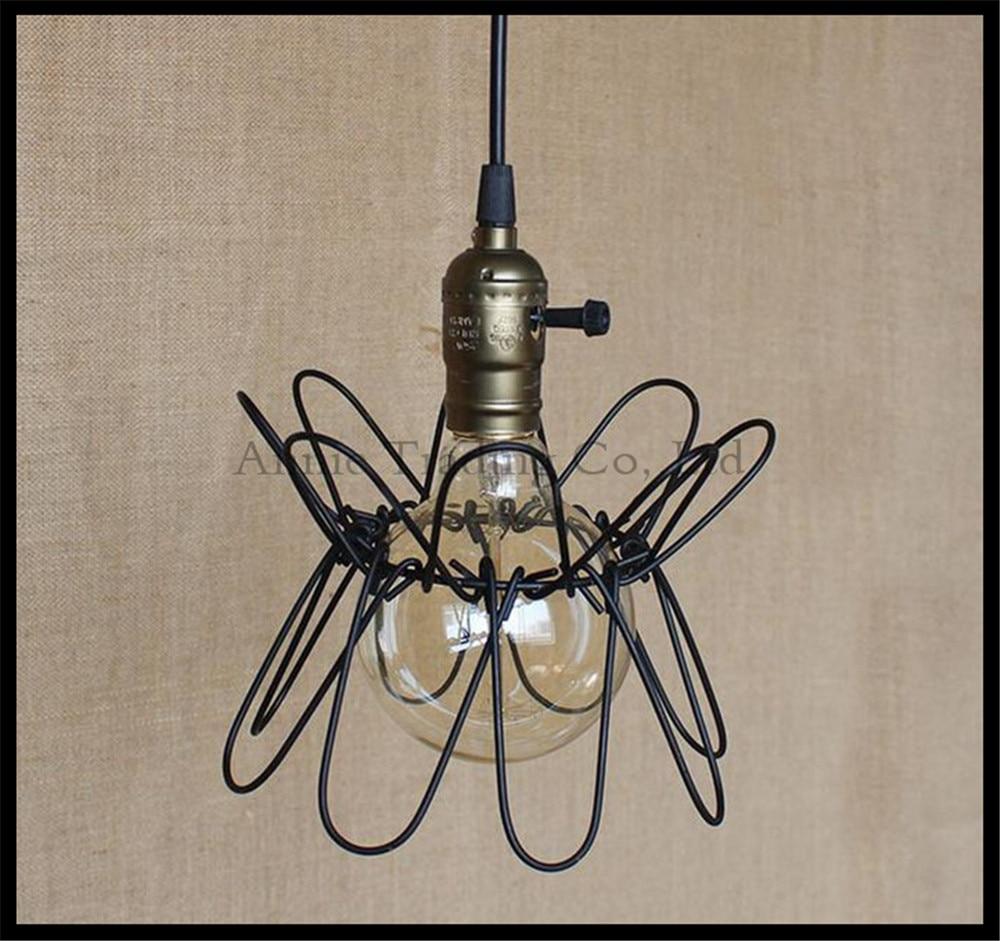 Retro American Style Iron Pendant Light Vintage Industrial Lighting Designer Bar Cafe Home Pendant Hanging Lights lampara retro matte black iron ceiling light american industrial iron lights