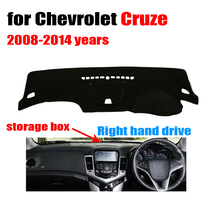 Car dashboard cover mat for Chevrolet Cruze 2008-2014 with storage box Right hand drive dashmat pad dash covers auto accessories