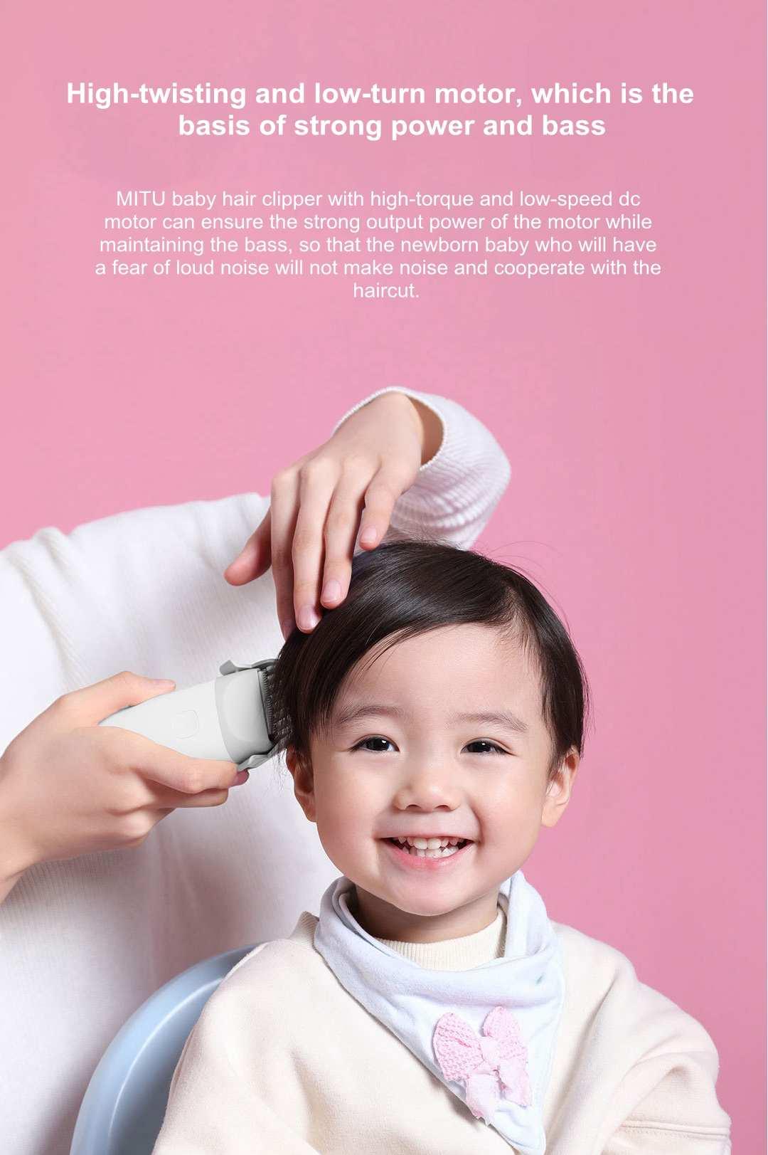 Mitu bebê máquina de cortar cabelo seguro