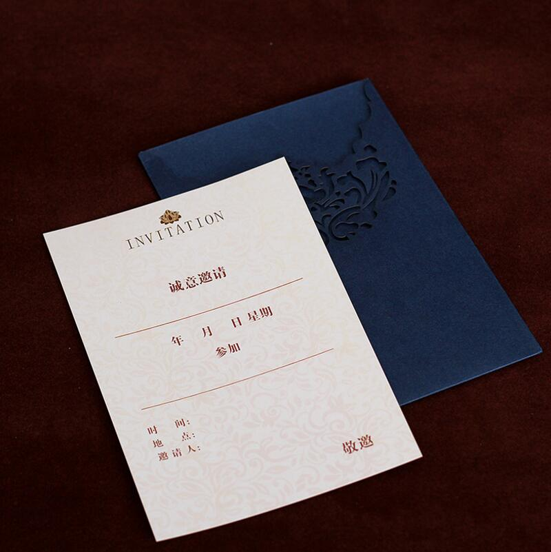 10pcslot Exquisite Hollow High end Business Invitations Luxury