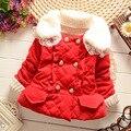 Meninas do bebê inverno casaco com capuz casaco de inverno meninas coreano presente de natal do bebê de espessura cotton clothing