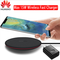 Original HUAWEI QI Wireless Charger Type C CP60 WPC Smart 15W Max HUAWEI Mate 20 Pro RS Compatible for IPhone Samsung