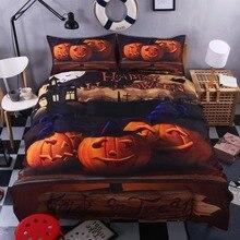 Hot Seller Halloween Bedding Funny Gift 3D Print Bedlclothes Soft Duvet Cover Set Twin Queen King Free Shipping