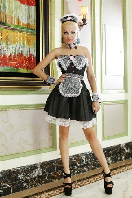 Kitchen Maid Cheap Backsplash For Sexy Cook Uniform Women Waitress Outfit Adult Halloween Costume Fancy Dress