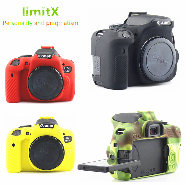 US $11 48 15% OFF|limitX Silicone Armor Skin Case Body Cover Protector for  Canon EOS 750D DSLR Digital Camera-in Camera/Video Bags from Consumer