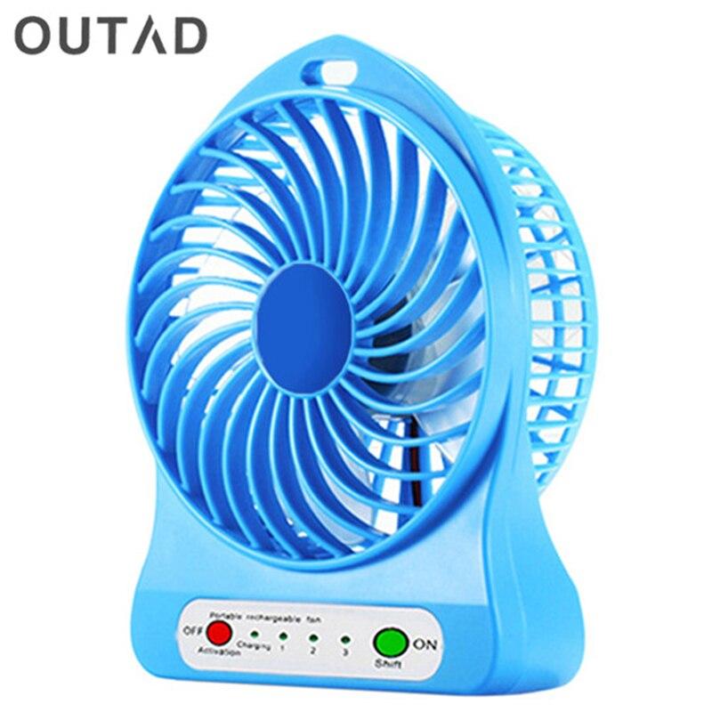 Outad Tragbare Mini Schreibtisch Fan Usb Schreibtisch Ventilador Fan Li-ion Batterie Akku Fan 3 Getriebe Mini Schreibtisch Fan Haushaltsgeräte Fans