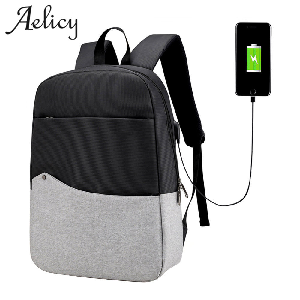 Aelicy Men Laptop Backpack For 15/16 inch USB Anti-theft Computer Backpacks Male Bag Daypack Women Waterproof Travel Bag Mochila