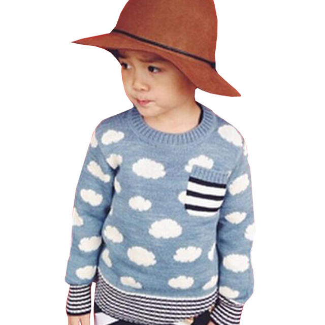 Hot Sale Infant Baby Boys Girls Cloud Printed Children Kids Knitted Winter Autumn Pullovers Warm Outerwear Boy Sweaters