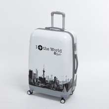 Wholesale!male and female 24 inch pc the world travel luggage bags on universal wheels,high quality plane printed luggage bags