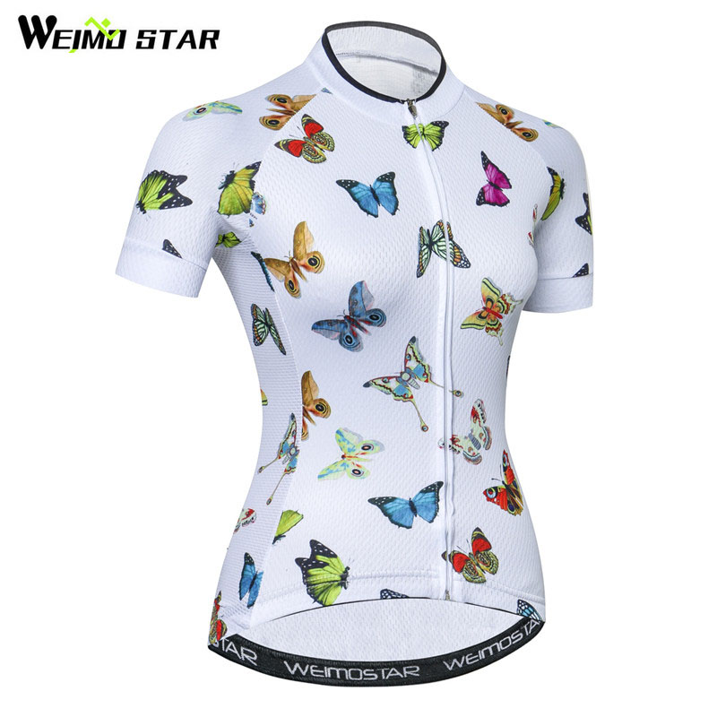 Weimostar Summer Short Sleeve Cycling Jersey Women Quick Dry MTB Bicycle Clothing Road Racing Bike Jersey Shirt Maillot Ciclismo