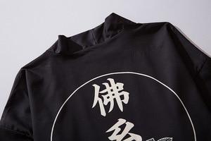 Image 4 - ثوب الكيمونو الياباني الرجال سترة قميص بلوزة يوكاتا الرجال haori obi الملابس الساموراي الملابس الذكور كيمونو سترة