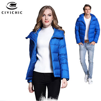 CIVICHIC Hot Fashion Man Woman Down Jacket Winter Thicken Warm Coats Couple Lovers Hooded Outer Clothing Eiderdown Wear DC520