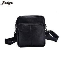 Новые мужские деловые натуральная кожа мини Crossbody сумки Портативный Европейский Стиль мужской одного плеча Crossbody мешок черный