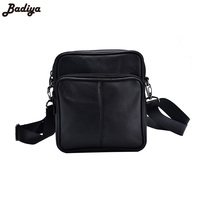 New Men S Business Genuine Leather Mini Crossbody Bags Portable European Style Male Single Shoulder Crossbody
