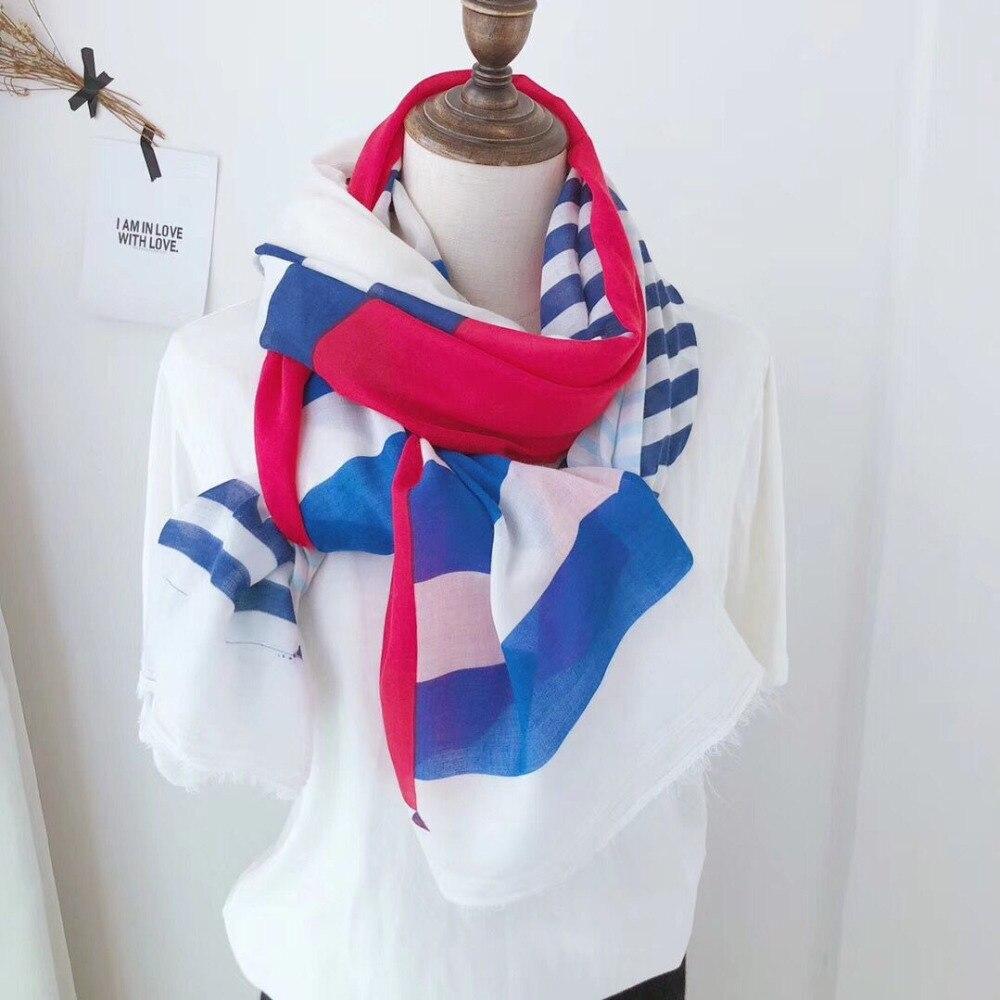 春スカーフ 2019 、綿ビスコーススカーフストライプ、英国スタイル、イスラム教徒ヒジャーブ、ヘッドラップ、ショールやスカーフ、韓国スタイルの女性岬  グループ上の アパレル アクセサリー からの レディース スカーフ の中 1