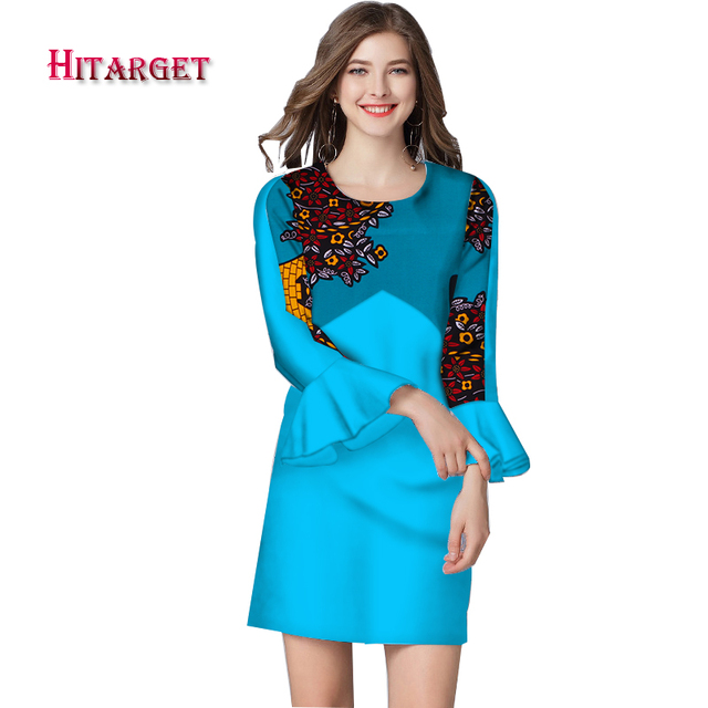 3860649aa0f Hitarget dashiki african dresses for women wax print cotton african bazin  fabric african clothes Elegant lady knee skirt WY3781