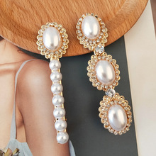RE 2pcs Vintage Baroque Crystal Pearl Hair Clips for Head Accessories B40