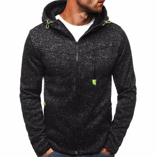 Winter Hoodie Male Cardigan 2017 New Long sleeve hoodies men Zipper  Sweatshirt Hoodies Mens Hooded Plus size Coat Jacket 57aac46a08e0