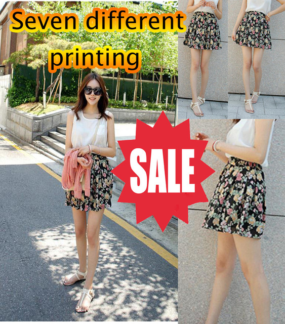 Free shipping 2013 womens fashion skirts  high-waisted skirt temperament wild ice silk bust skirt printing