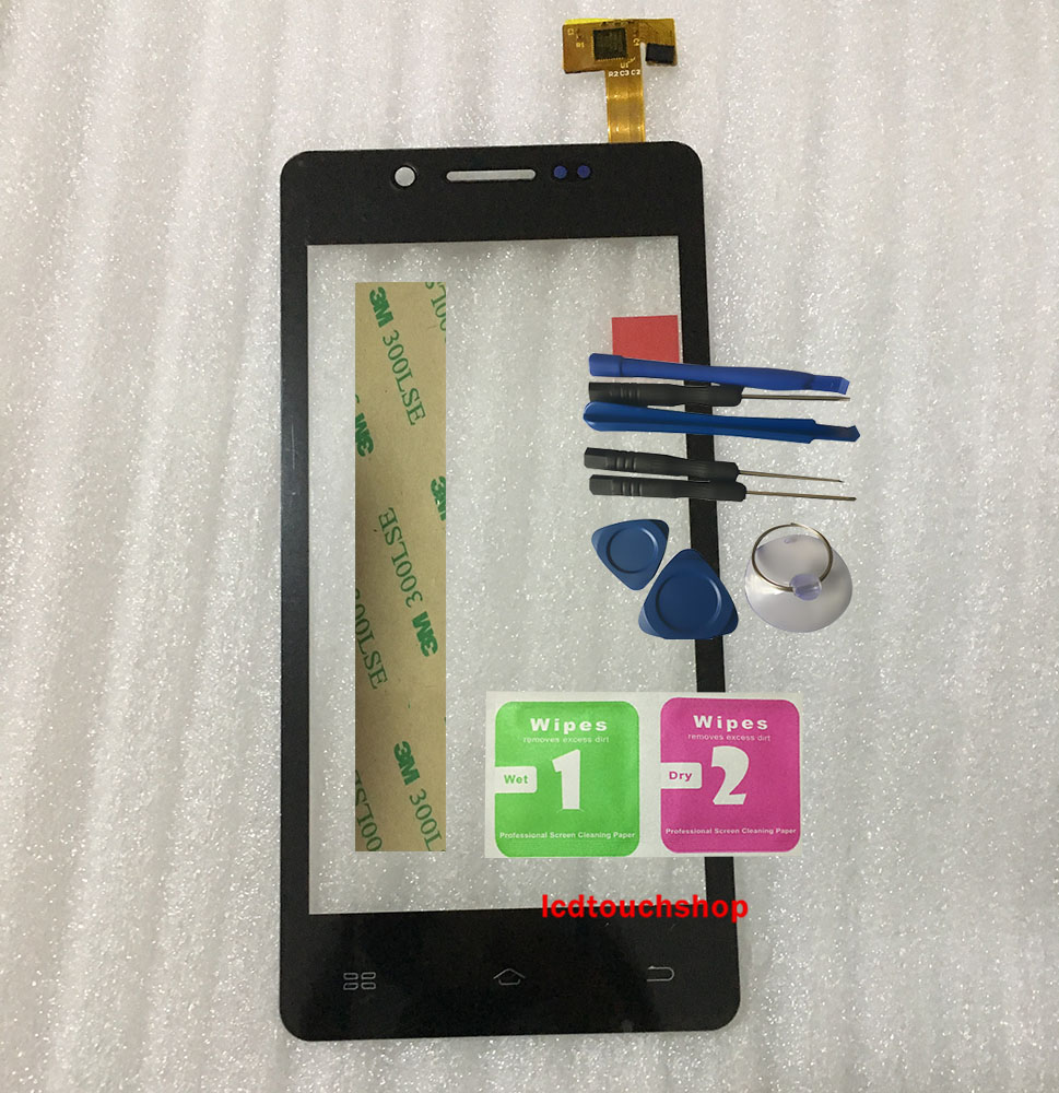 New Touchscreen 4.5 Inches For Keneksi Fire 2 Touch Panel Digitizer Front Glass Lens Replacement Touch Screen With Tools