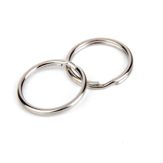 Phenovo 100pcs Split Key Rings Nickle Plated Metal Chains Keychain Durable Key R