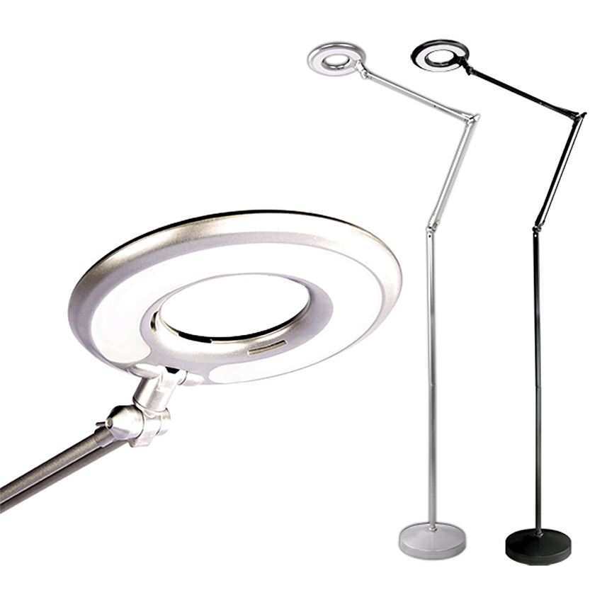 110V~240V 2X LED Folding Lamp Magnifying Glass Cold Ligth Operation Floor Shadowless Lamp Magnifier for Beauty Salon Nail Tattoo