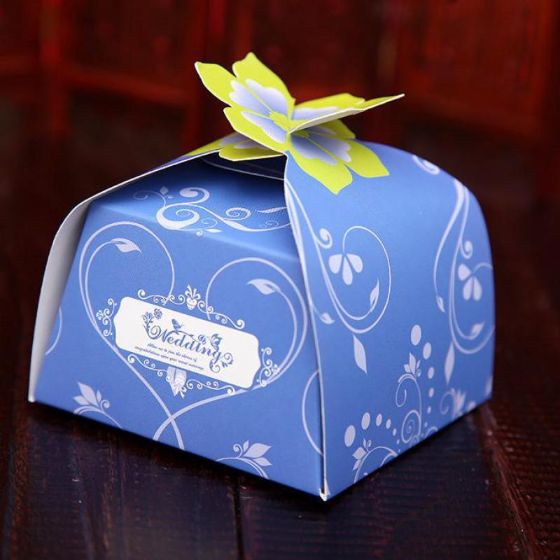 Creative Korean Flower Irregal Candy Boxes Wedding Favor
