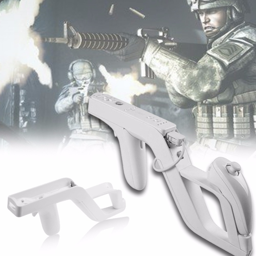Games Remote Control Shooting Gun Games Remote Controller for Nintendo Wii Zapper Nunchuk Motion Plus Remote Controller Game protective silicone case for wii u remote and nunchuk controller translucent white