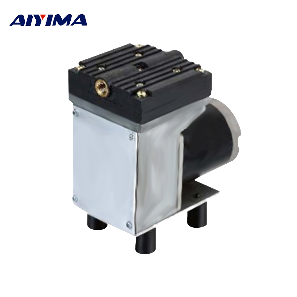 Aiyima DC 12V 50W Diaphragm Vacuum Pump 33L/Min Negative Pressure Pump With Brush electric dc brush 12v diaphragm medical pump