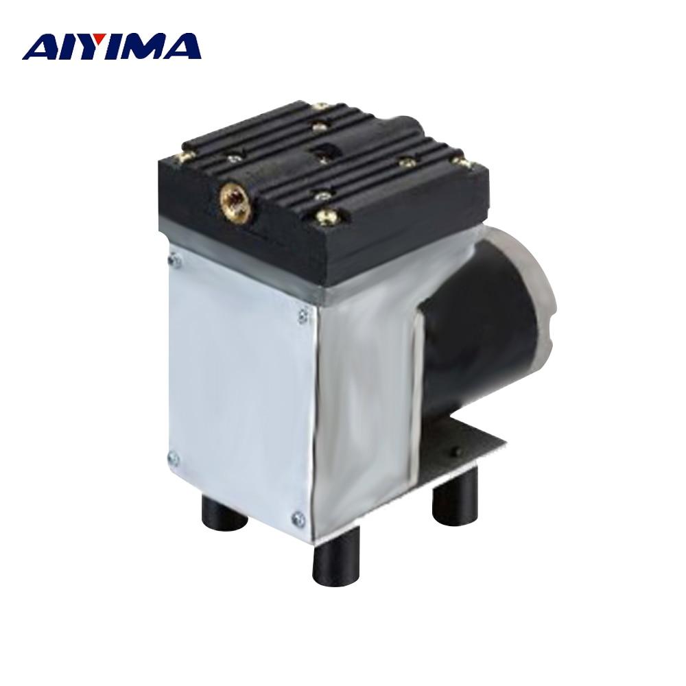 AIYIMA DC 12V 50W Diaphragm Vacuum Pump 33L/Min Negative Pressure Pump With Brush