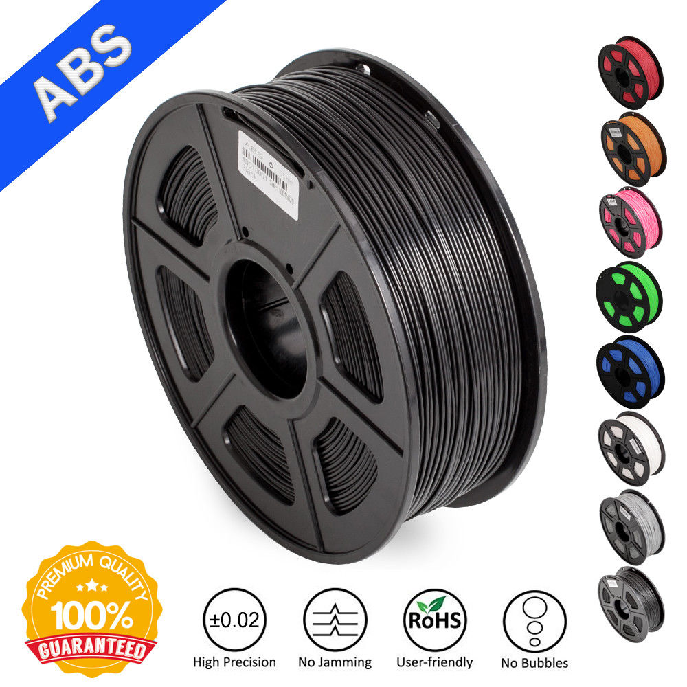 SUNLU ABS Impressão filamento Impressora de Filamento ABS Filamento 1.75 milímetros 3D 3D Baixo Odor Dimensional Precisão +/-0.02mm 2.2 LIBRAS (1 KG)