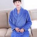Men Women 100% Cotton Flannel Bathrobe Lovers Solid Towel Sleepwear Long Bath Robe Kimono Femme Dressing Gown Bridesmaid Robes