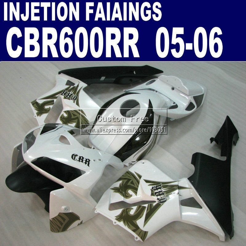 Motorcycle Injection fairings kit for Honda Phoenixl CBR 600 RR fairing CBR600RR 2005 2006 05 06 white  bodykit custom injection molding fairings for honda cbr 600 rr 2005 2006 cbr600rr 05 06 black flame in white motorcycle fairing kit