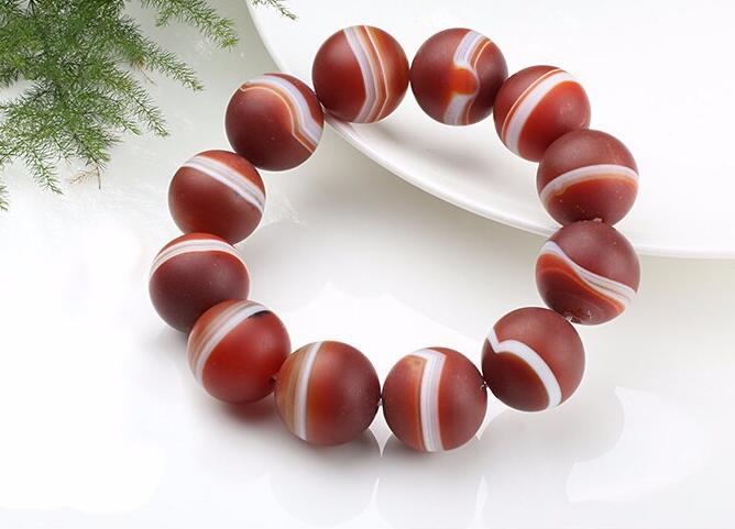 Fashion 100% A Grade Natural Brazil Handmade 20mm Men's Buddha Beads Weave Bracelet