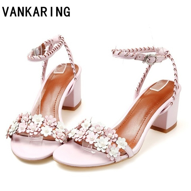 48693afc94b VANKARING women sandals new 2018 summer fashion sexy thick high heels open  toe shoes woman dress party casual gladiator sandals