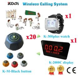 Restauracji wywołanie Bell system pagera Ycall CE usług bezprzewodowych tabela wywołanie Bell sprzęt (1 wyświetlacz + 1 zegarek + 20 przycisk połączenia)