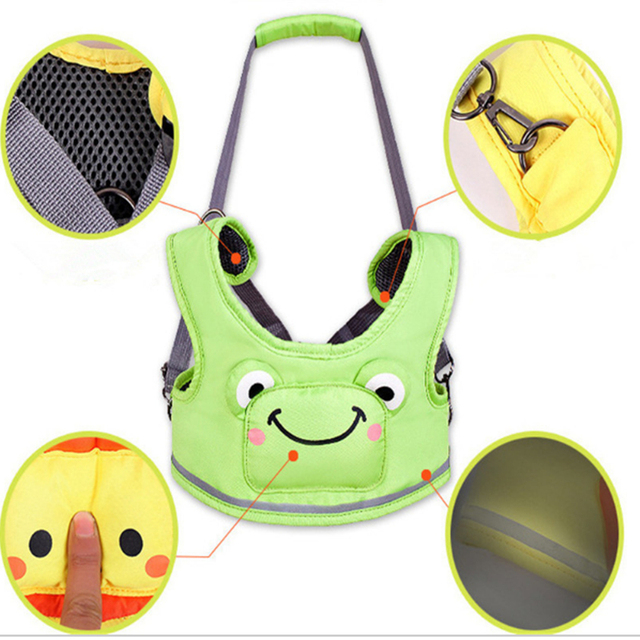 Low price Baby Walker Assistant Cartoon Breathable Vest Harness Toddler Anti-lost Belt child safety Learning walking Assistant
